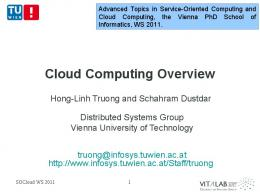 Service-oriented Computing and Cloud computing - Distributed ...