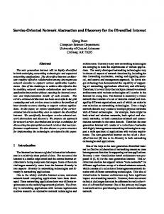 Service-Oriented Network Abstraction and Discovery for ... - IEEE Xplore