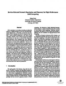 Service-Oriented Network Description and Discovery for ... - IEEE Xplore