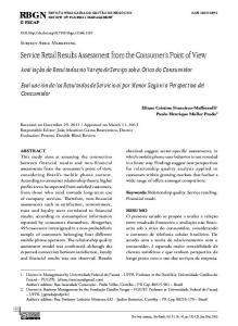 Service Retail Results Assessment from the ... - RBGN - Fecap