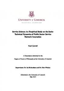 Service Science: An Empirical Study on the Socio ... - Semantic Scholar