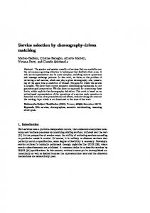 Service selection by choreography-driven matching - Dipartimento di ...