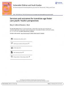 Services and outcomes for transition-age foster care