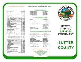 Services Provided by Sutter County