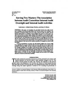 Serving Two Masters: The Association between ... - AAA Digital Library