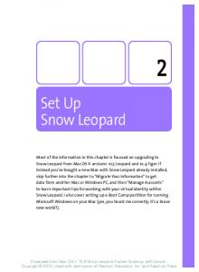 Set Up Snow Leopard - Pearsoncmg
