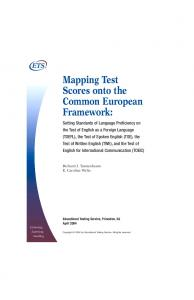 Setting a Performance Standard on the Test of English As A ... - ETS