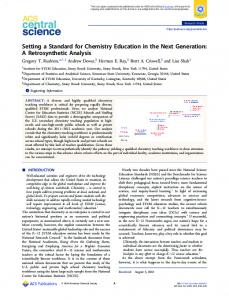 Setting a Standard for Chemistry Education in the ... - ACS Publications