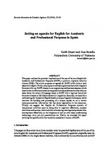 Setting an agenda for English for Academic and