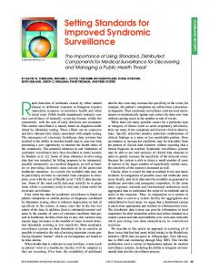 Setting Standards for Improved Syndromic Surveillance