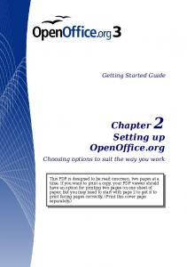 Setting up open office