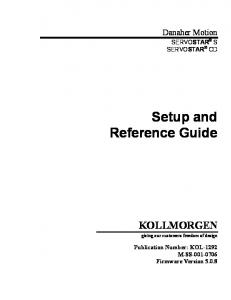 Setup and Reference Guide
