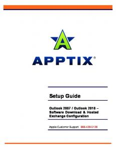 Setup Guide Outlook 2007 / Outlook 2010 - Apptix