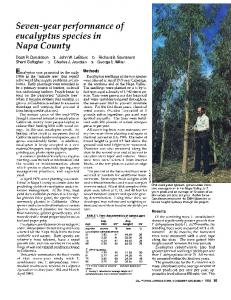 Seven-year performance of eucalyptus species in Napa County