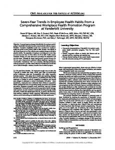 Seven-Year Trends in Employee Health Habits ... - Semantic Scholar