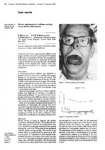 Severe angioneurotic oedema causing acute airway obstruction.