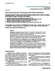 Severe Anisocoria after Oral Surgery under General Anesthesiahttps://www.researchgate.net/.../Severe-Anisocoria-after-Oral-Surgery-under-General-...