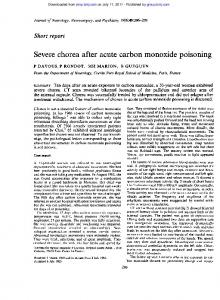 Severe chorea after acute carbon monoxide poisoning