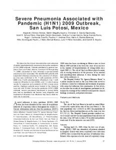 Severe Pneumonia Associated with Pandemic (H1N1) 2009 Outbreak ...