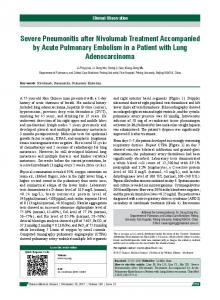 Severe Pneumonitis after Nivolumab Treatment