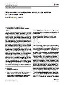 Severity analysis of powered two wheeler traffic accidents in ...