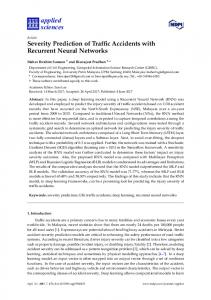 Severity Prediction of Traffic Accidents with Recurrent Neural ... - MDPI