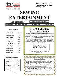 SEWING ENTERTAINMENT