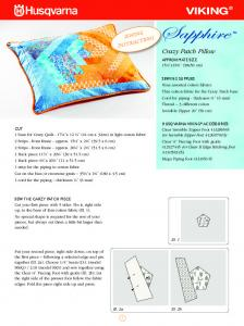 Sewing Instructions - Crazy Patch Pillow