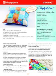 Sewing Instructions - Pebbling Pillow