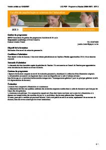SEX 3 Doctorat en sciences psychologiques (sciences de la famille ...