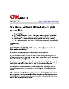 Sex abuse, violence alleged at teen jails across U.S. - National ...
