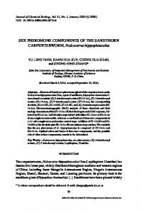 SEX PHEROMONE COMPONENTS OF THE ... - Springer Link