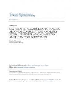 sex-related alcohol expectancies, alcohol consumption, and risky