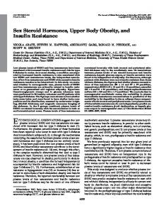 Sex Steroid Hormones, Upper Body Obesity, and Insulin Resistance
