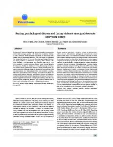 Sexting, psychological distress and dating violence among - Psicothema