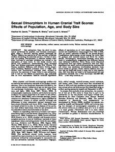 Sexual dimorphism in human cranial trait scores - Wiley Online Library