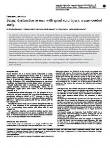 Sexual dysfunction in men with spinal cord injury - Nature