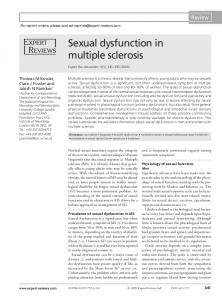 Sexual dysfunction in multiple sclerosis