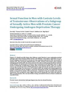 Sexual Function in Men with Castrate Levels of Testosterone
