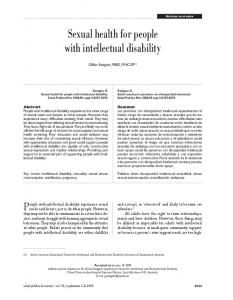 Sexual health for people with intellectual disability