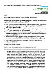 Sexual Health of Polish Athletes with Disabilities