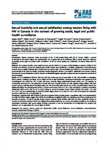Sexual inactivity and sexual satisfaction among women living with HIV ...