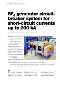 SF generator circuit- breaker system for short-circuit currents up ... - ABB