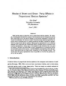 Shades of Brown and Green: Party Effects in ...
