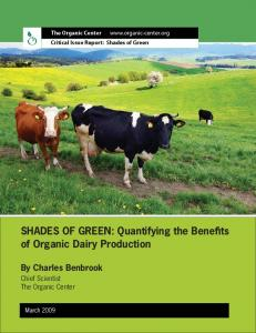 SHADES OF GREEN: Quantifying the Beneffts of Organic Dairy ...