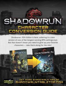 Shadowrun: Fourth Edition to Fifth Edition Conversion Guide