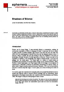 Shadows of Silence - Ephemera