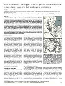 Shallow-marine records of pyroclastic surges and ... - GSA Publications