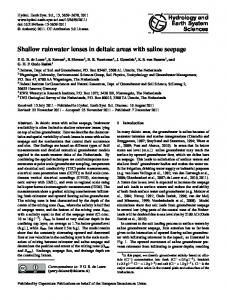 Shallow rainwater lenses in deltaic areas with saline seepage - Core