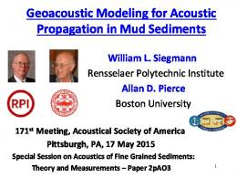 Shallow Water Acoustics Modeling